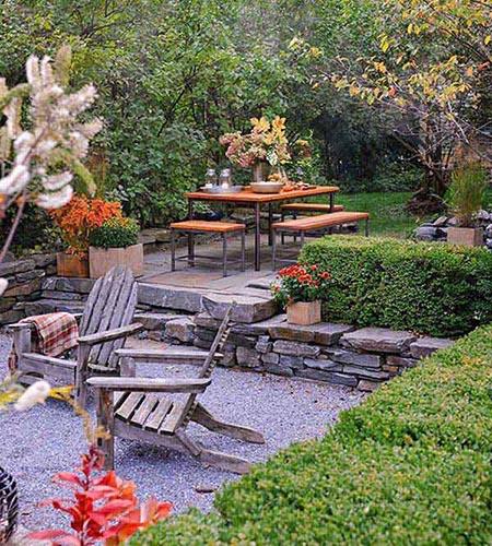Sunken Backyard Patio : Sunken Gardens and Patios  Rock Castles Landscaping